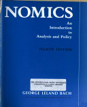 Economics  an Introduction to Analysis and Policy