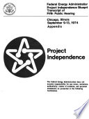 Project Independence San Francisco California Oct 11 12 1974