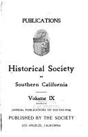 The Historical Society Of Southern California Quarterly