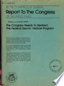 The Congress Needs to Redirect the Federal Electric Vehicle Program Book