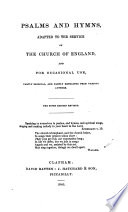 Psalms And Hymns Adapted To The Service Of The Church Of England And For Occasional Use The Fifth Edition Revised Ms Notes