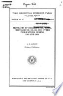 Abstracts of Bulletins No. 625-662, Circulars No. 101-105, and Other Publications During 1943 and 1944