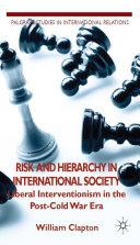 Risk and Hierarchy in International Society [Pdf/ePub] eBook
