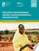 Resilience programming among nongovernmental organizations