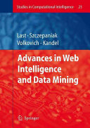 Advances in Web Intelligence and Data Mining Book
