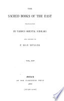 The Sacred Books of the East Book
