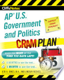 CliffsNotes AP U.S. Government and Politics Cram Plan