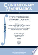 Invariant Subspaces of the Shift Operator Book