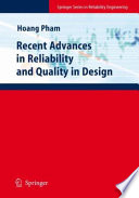 Recent Advances In Reliability And Quality In Design Book PDF