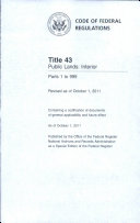 Code of Federal Regulations, Title 43, Public Lands: Interior, Pt. 1-999, Revised as of October 1 2011