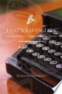 That's Raven Talk