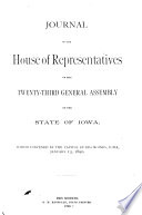 Journal of the House of Representatives of the     Regular Session of the General Assembly of the State of Iowa