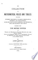 A Collection Of Mathematical Rules And Tables