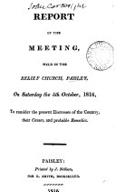 Pdf Report of the meeting, held in the Relief church, Paisley...to consider the present distress of the country