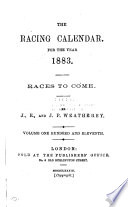 The Racing Calendar For The Year 1883