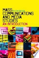 Mass Communications and Media Studies