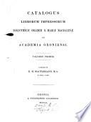 Catalogus Librorum Impressorum Bibliothec Collegii B Mari Magdalen In Academia Oxoniensi Followed By Appendix