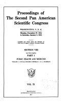 Pdf Proceedings of the Second Pan American Scientific Congress, Washington, U.S.A., Monday, December 27, 1915 to Saturday, January 8, 1916