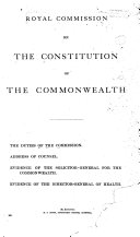 Royal Commission on the Constitution of the Commonwealth