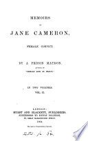 Memoirs of Jane Cameron, Female Convict