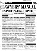 ABA/BNA Lawyers' Manual on Professional Conduct