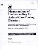 Memorandum of Understanding for Animal Care During Disasters