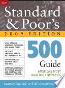 Standard   Poor s 500 Guide 2009 PB