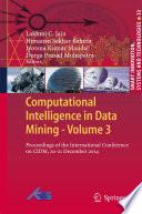 Computational Intelligence in Data Mining   Volume 3 Book