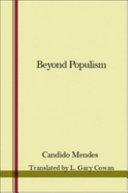 Beyond Populism