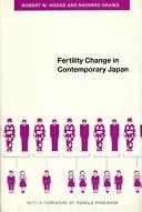 Pdf Fertility Change in Contemporary Japan