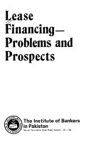 Lease Financing  Problems and Prospects Book