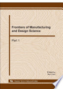 Frontiers of Manufacturing and Design Science