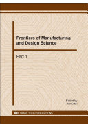 Frontiers of Manufacturing and Design Science Pdf/ePub eBook