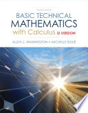 Basic Technical Mathematics with Calculus, SI Version,