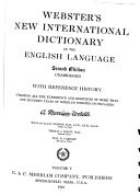Webster S New International Dictionary Of The English Language U Zyz History