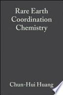 Rare Earth Coordination Chemistry Book PDF