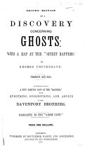 A Discovery concerning Ghosts  with a rap at the  Spirit Rappers      Illustrated with cuts