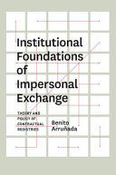 Institutional Foundations of Impersonal Exchange Pdf/ePub eBook