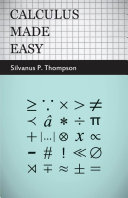 Calculus Made Easy Pdf/ePub eBook
