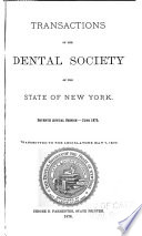 Transactions Of The Dental Society Of The State Of New York Book PDF