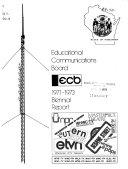 Biennial Report   Wisconsin Educational Communications Board