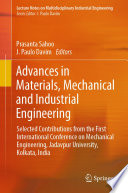 Advances in Materials, Mechanical and Industrial Engineering