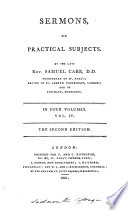 Sermons, on practical subjects
