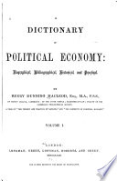 A Dictionary Of Political Economy