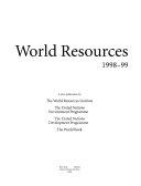 World Resources  1998 99 Book