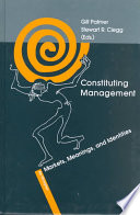 Constituting Management Book PDF