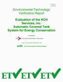 Evaluation of KCH Services, Inc. Automated Covered Tank System for Energy Conservation Pdf/ePub eBook