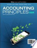 """Accounting Principles, Volume 1"" by Jerry J. Weygandt, Donald E. Kieso, Paul D. Kimmel, Barbara Trenholm, Valerie Warren, Lori Novak"
