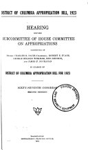 District of Columbia Appropriation Bill