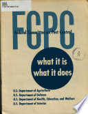 FCPC   Federal Committee on Pest Control  what it Is  what it Does